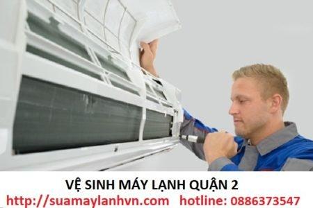 vệ sinh máy lạnh quận 2