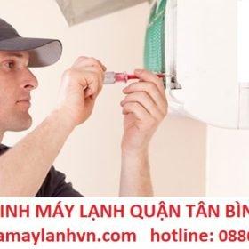 vệ sinh máy lạnh quận tân bình