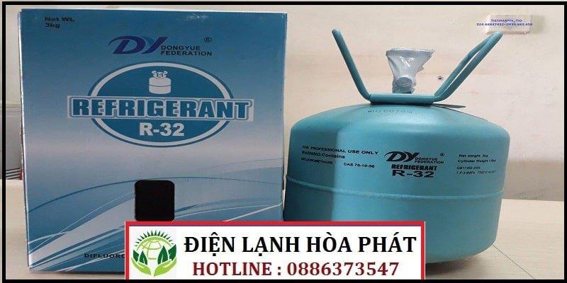 giá gas máy lạnh r32