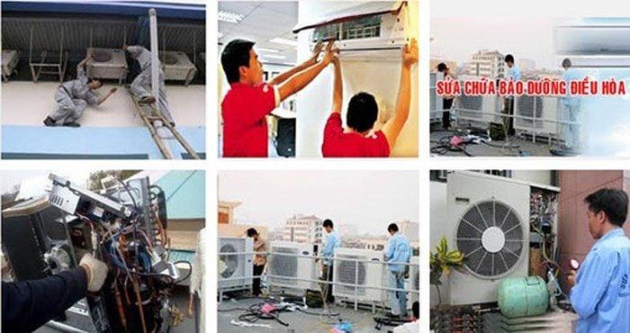 sửa máy lạnh đường Hoàng Sĩ Khải